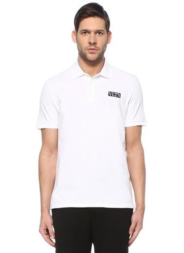 Valentino Valentino VLTN  Polo Yaka T-shirt 101619319 Beyaz